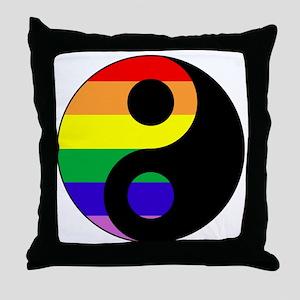 GLBT Yin Yang Throw Pillow
