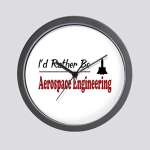 Rather Be Aerospace Engineering Wall Clock