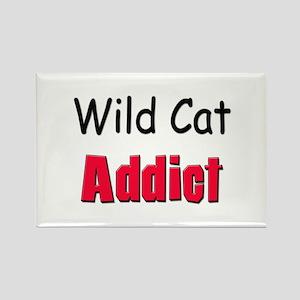 Wild Cat Addict Rectangle Magnet