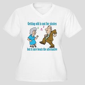 Getting Old Not For Sissies Women's Plus Size V-Ne