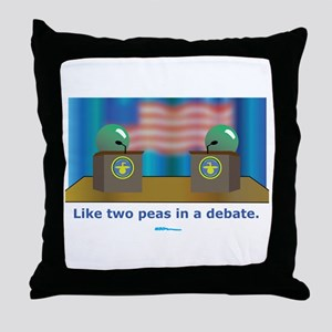 in a Debate Throw Pillow