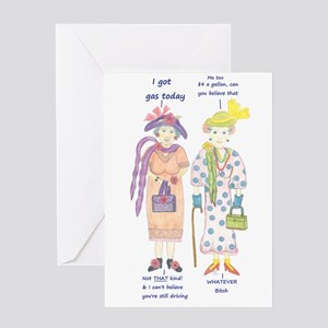 Funny old lady greeting cards cafepress greeting card m4hsunfo