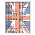 Darts Out Chart - British Flag
