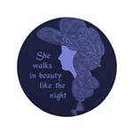 """In Beauty 3.5"""" Button (100 pack)"""