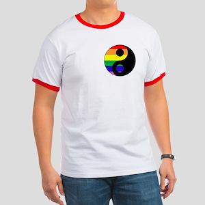 GLBT Yin Yang Ringer T-Shirt