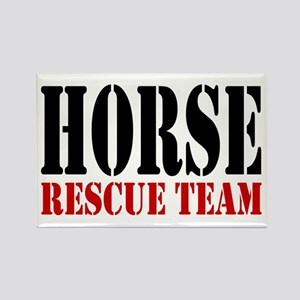 Horse Rescue Team Rectangle Magnet