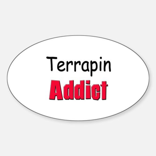 Terrapin Addict Oval Decal