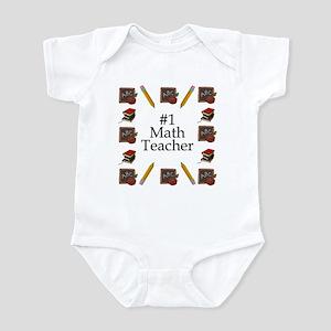#1 Math Teacher Infant Bodysuit