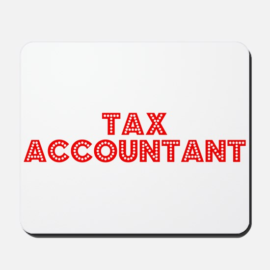Retro Tax Account.. (Red) Mousepad