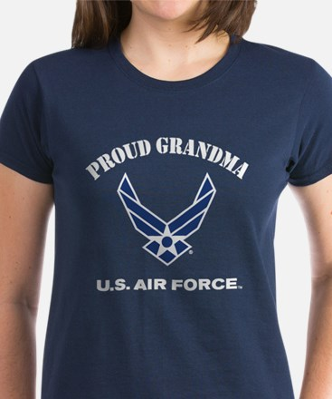 Proud US Air Force Grandma Women's Dark T-Shirt