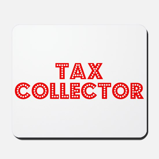Retro Tax Collector (Red) Mousepad