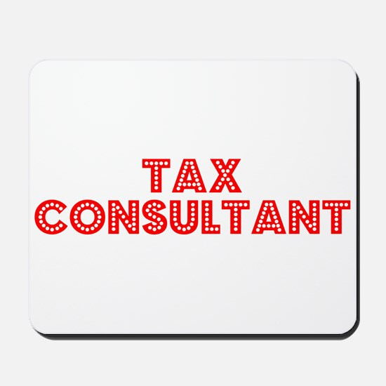 Retro Tax Consult.. (Red) Mousepad