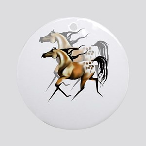 Running Appy Shadowed Ornament (Round)