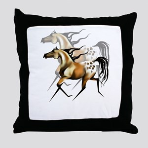 Running Appy Shadowed Throw Pillow