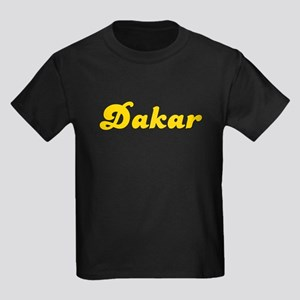 Retro Dakar (Gold) Kids Dark T-Shirt