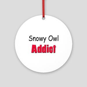 Snowy Owl Addict Ornament (Round)