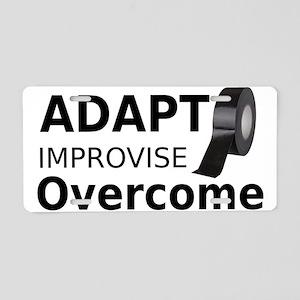 Adapt Improvise Overcome Aluminum License Plate