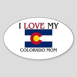 I Love My Colorado Mom Oval Sticker