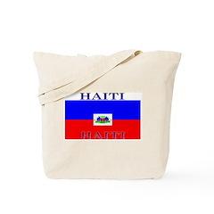 Haiti Haitian Flag Tote Bag