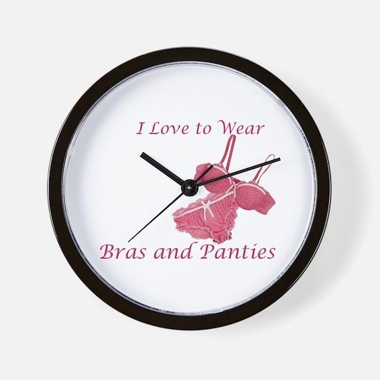 Love to Wear Bra and Panties Wall Clock