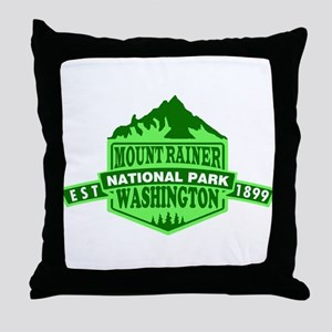 Mount Rainier - Washington Throw Pillow
