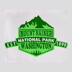 Mount Rainier - Washington Throw Blanket
