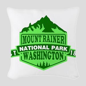 Mount Rainier - Washington Woven Throw Pillow