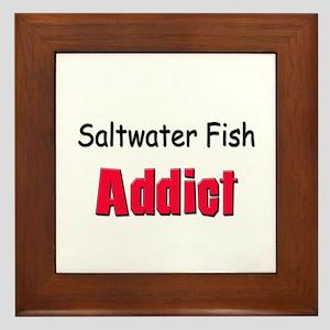 Saltwater Fish Addict Framed Tile