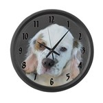 Clumber Spaniel Large Wall Clock