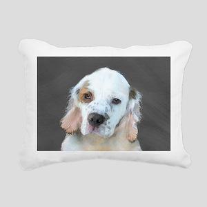 Clumber Spaniel Rectangular Canvas Pillow