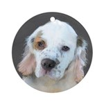 Clumber Spaniel Round Ornament