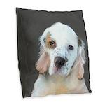 Clumber Spaniel Burlap Throw Pillow