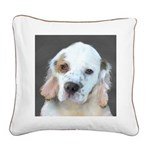 Clumber Spaniel Square Canvas Pillow