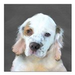Clumber Spaniel Square Car Magnet 3