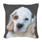 Clumber Spaniel Woven Throw Pillow