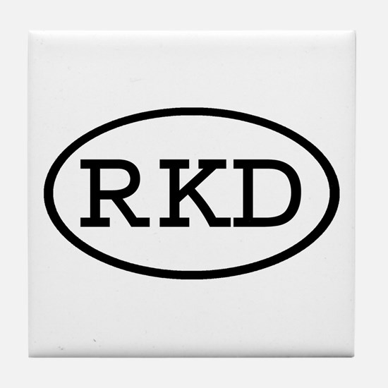 RKD Oval Tile Coaster