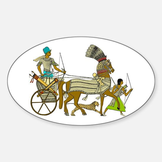 Ancient Egypt v2 Oval Decal