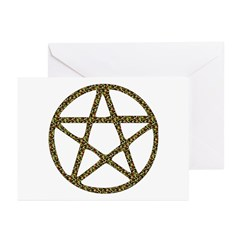 Camouflage Pentacle Greeting Cards (Pk of 10)