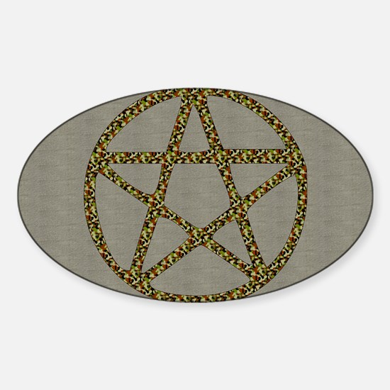 Camouflage Pentacle Oval Decal