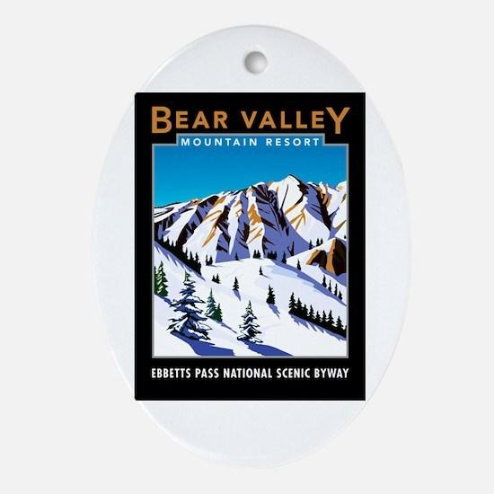 Bear Valley Resort - Oval Ornament