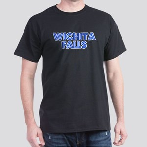 Retro Wichita Falls (Blue) Dark T-Shirt