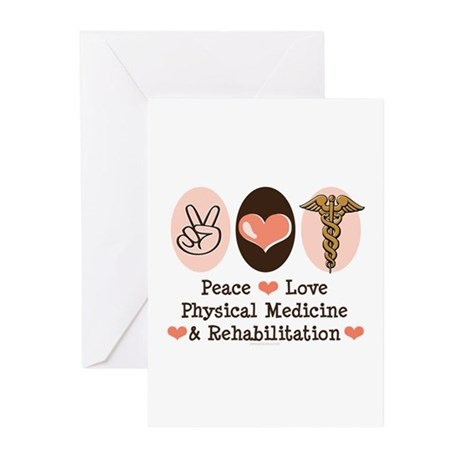 Peace Love PM&R Doctor Greeting Cards (Pk of 10)