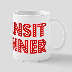 Retro Transit pla.. (Red) Mug