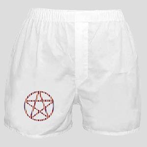 Patriotic Pentacle Boxer Shorts