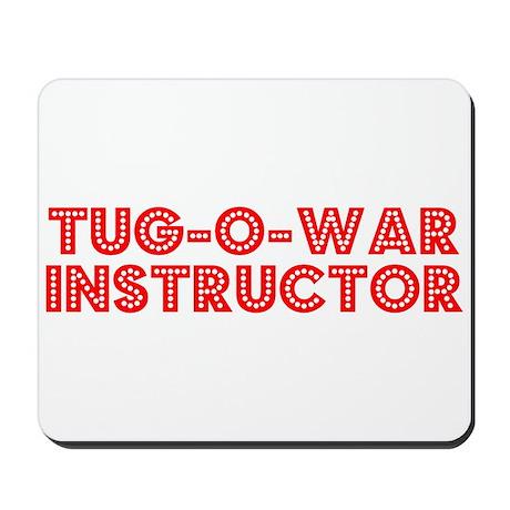 Retro Tug-o-war I.. (Red) Mousepad