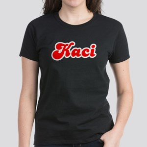 Retro Kaci (Red) Women's Dark T-Shirt
