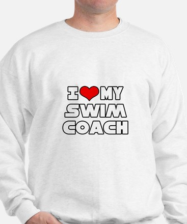 """I Love My Swim Coach"" Sweatshirt"