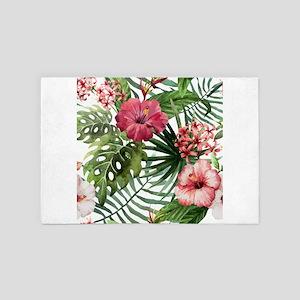 Watercolor Flowers 4' x 6' Rug