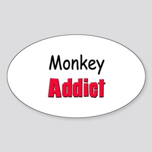 Monkey Addict Oval Sticker