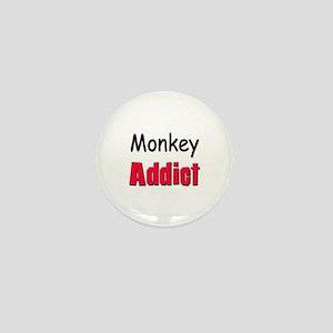 Monkey Addict Mini Button